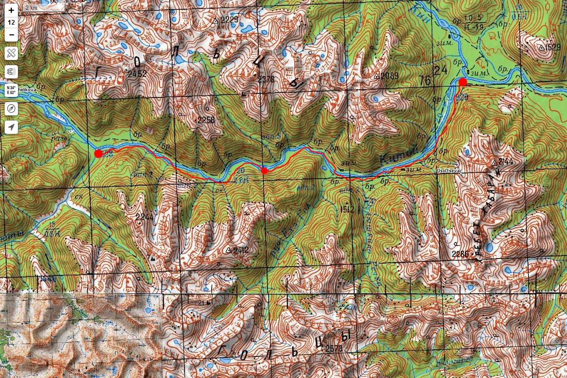 Карта маршрута 5 мая