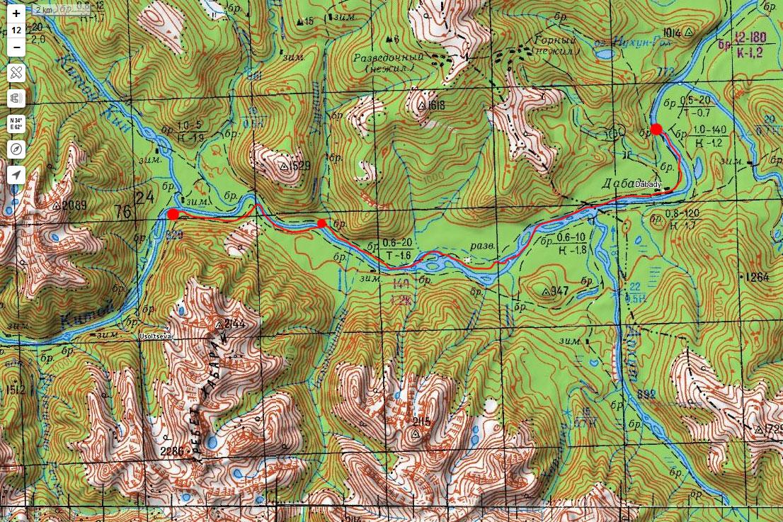 Карта маршрута 6 мая