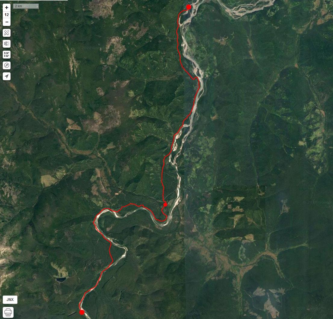 Спутниковый снимок маршрута 7 мая