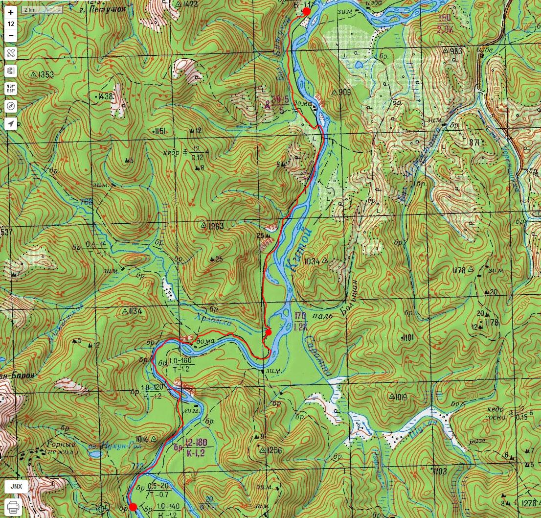 Карта маршрута 7 мая