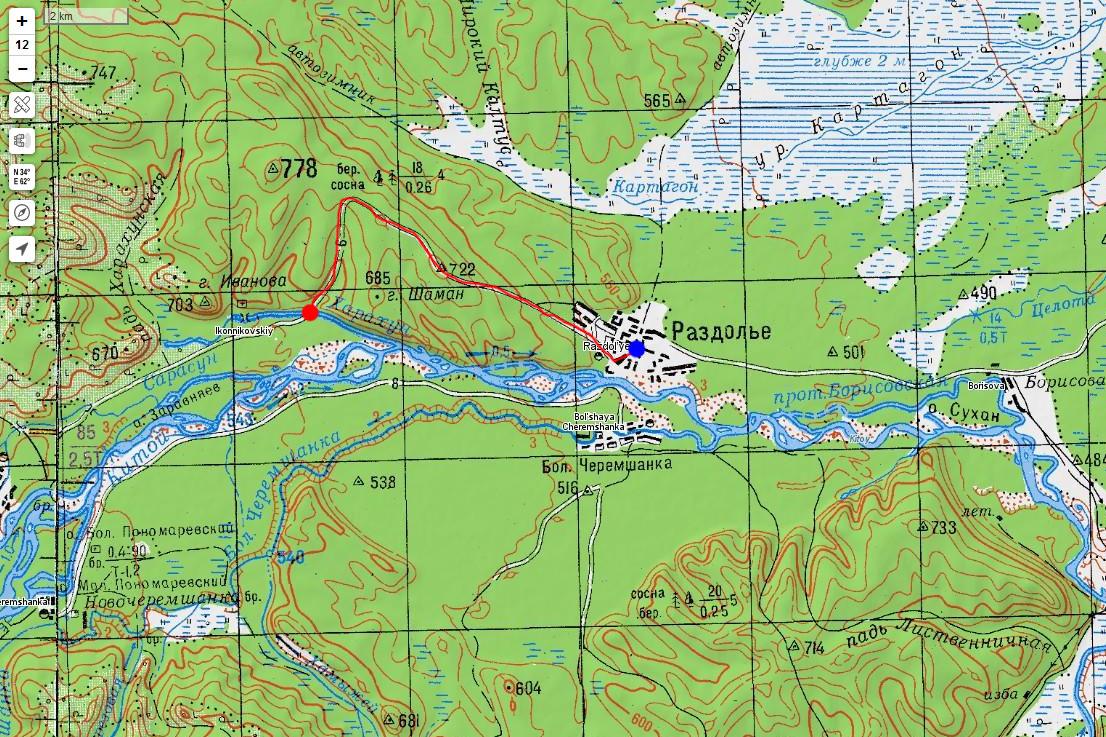 Карта маршрута 9 мая