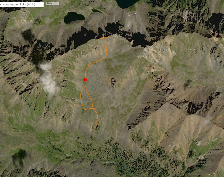 Спутниковый снимок маршрута 21 августа