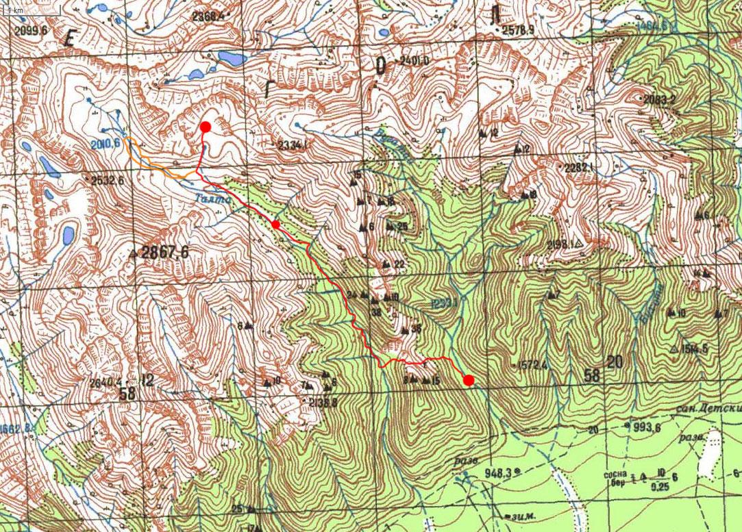 Карта маршрута 22 августа