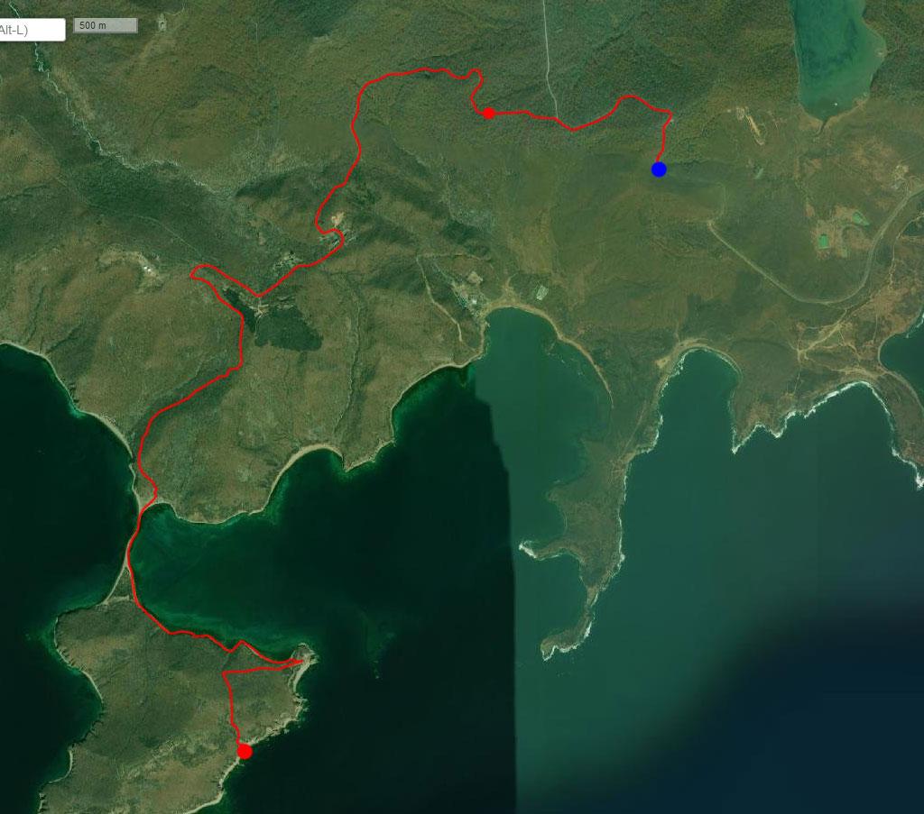 Спутниковый снимок маршрута 21 сентября