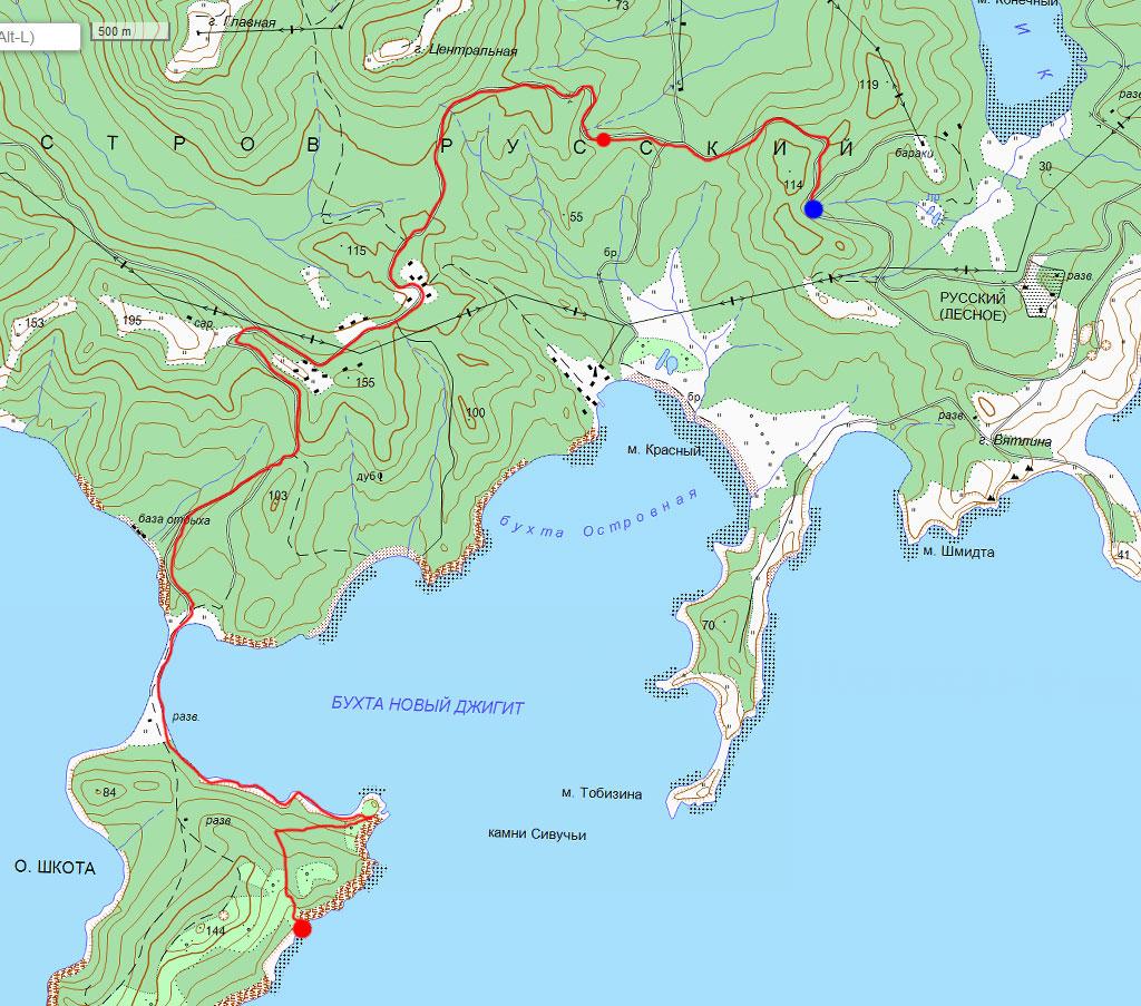 Карта маршрута 21 сентября