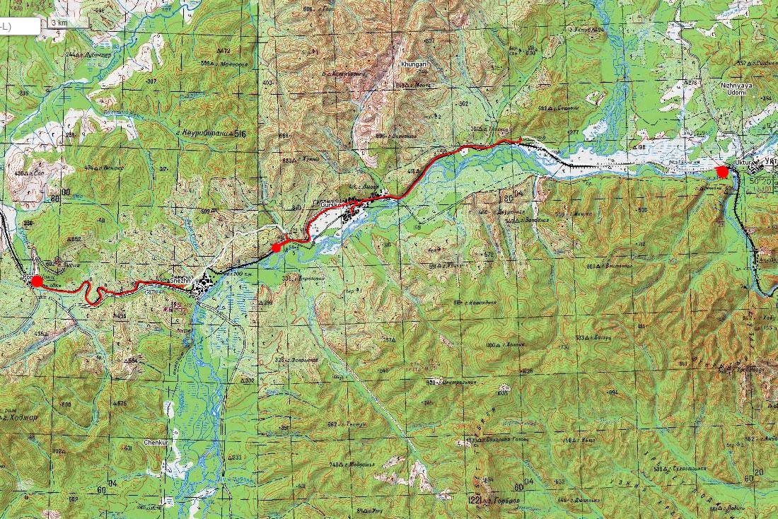 Карта маршрута 21 июня