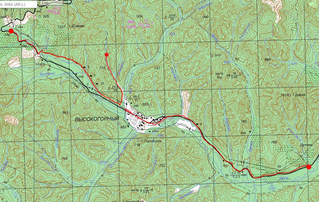 Карта маршрута 24 июня
