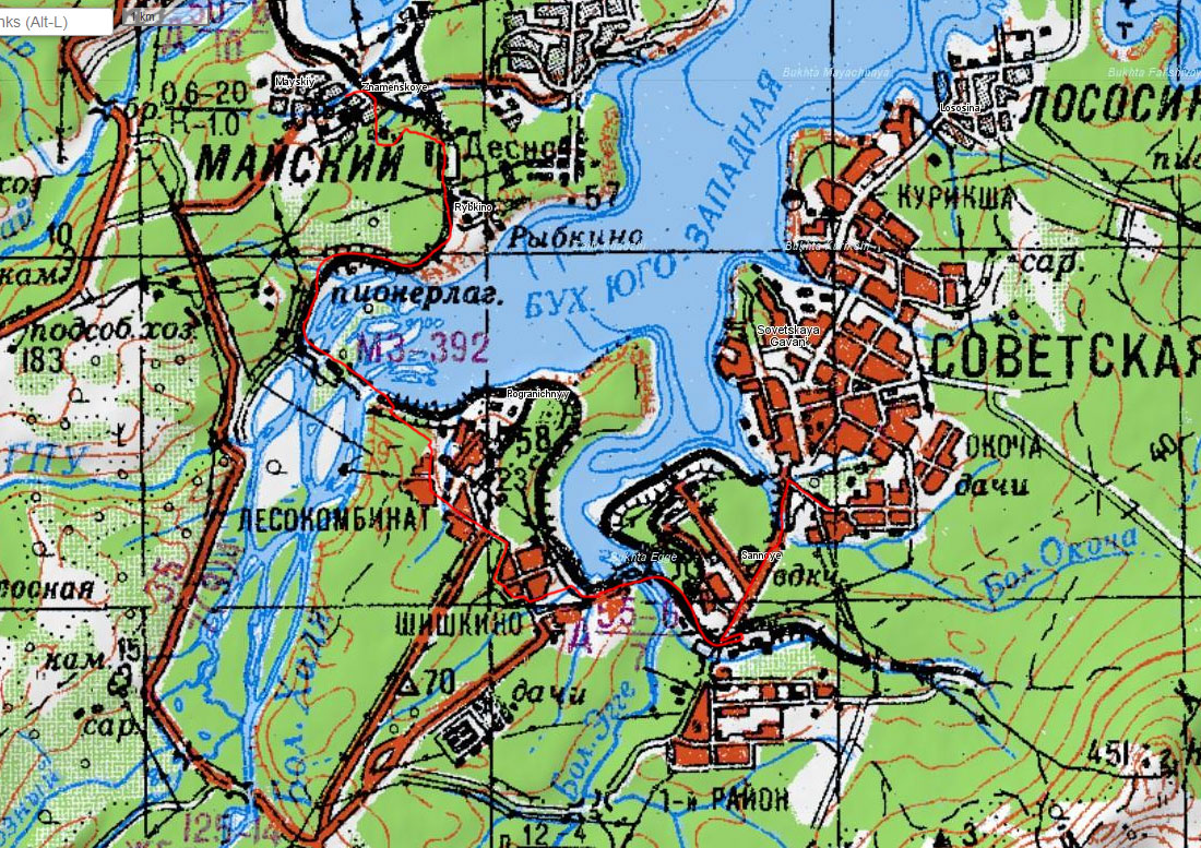 Карта маршрута 27 июня