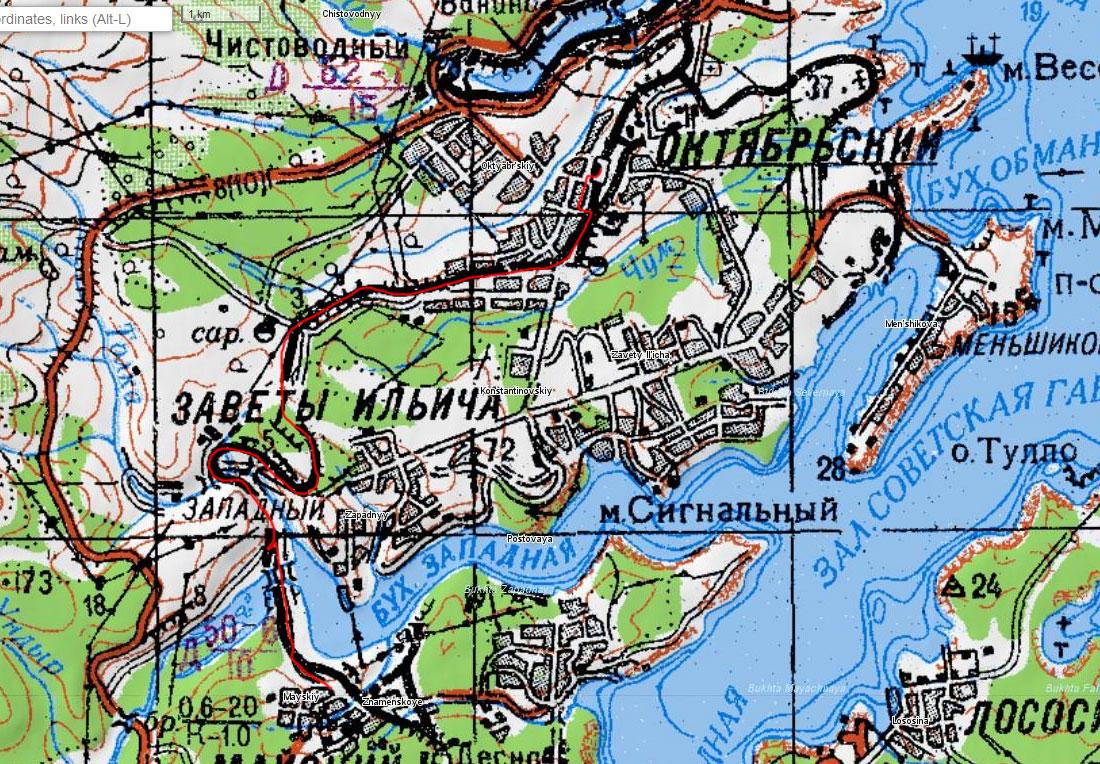 Карта маршрута 28 июня