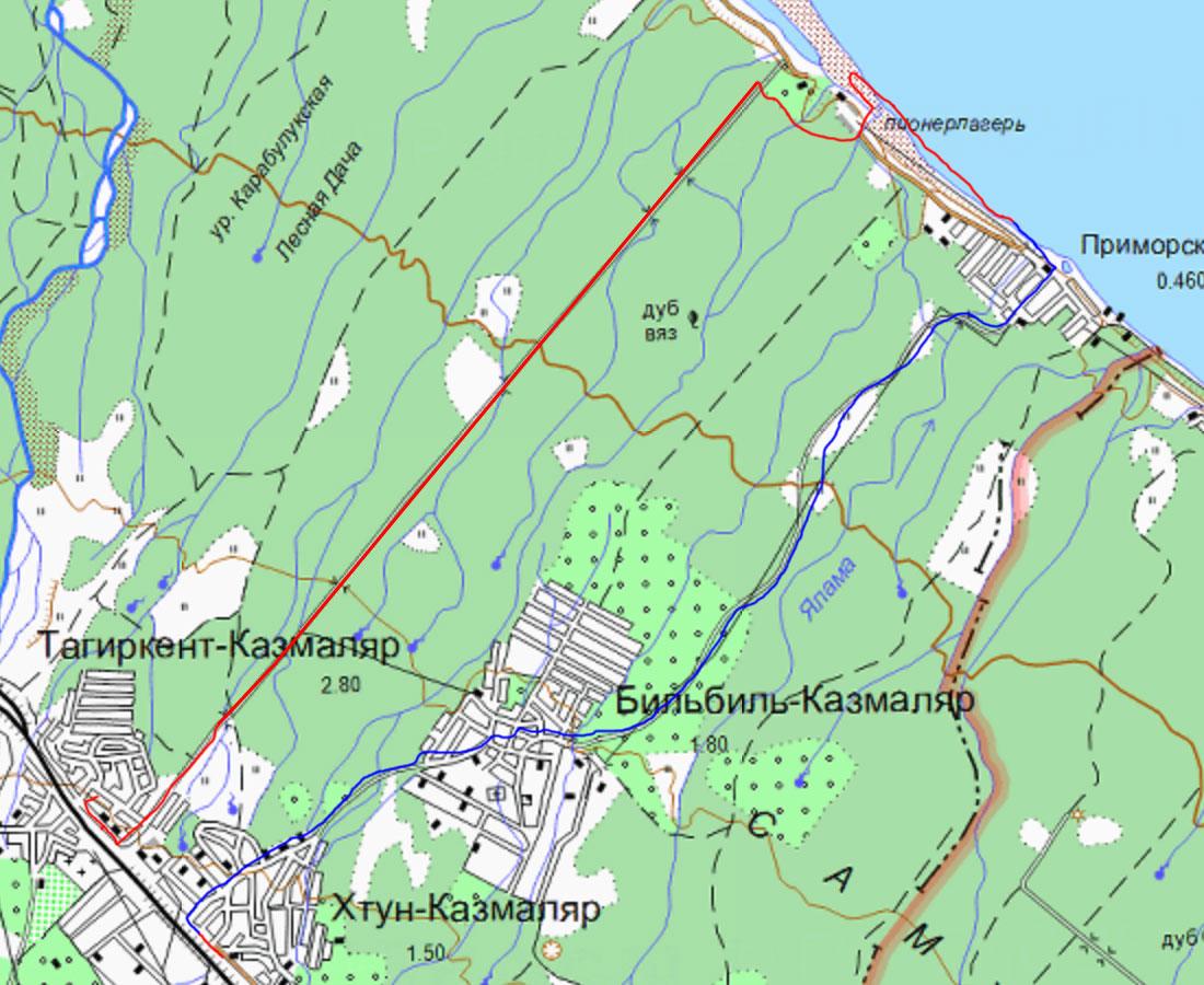 Карта Самурского леса