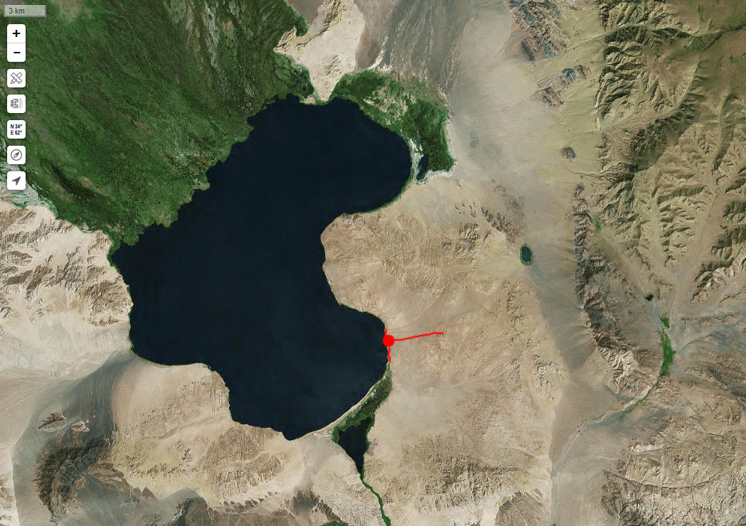 Спутниковый снимок Ачит-Нура