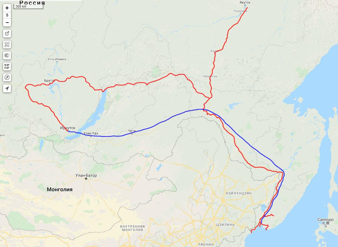 Схема поездки