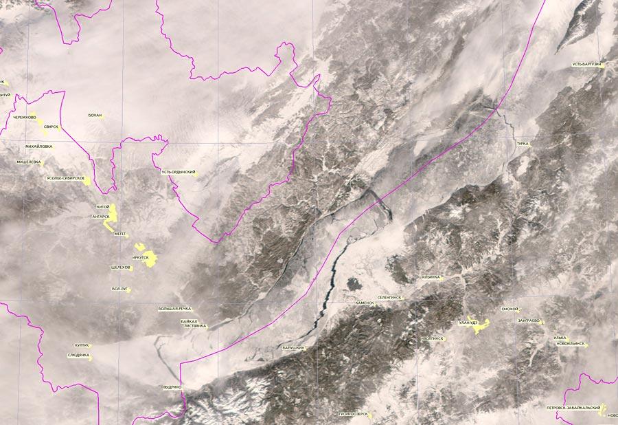 Ледовая обстановка Байкала на 15 февраля 2015 г.