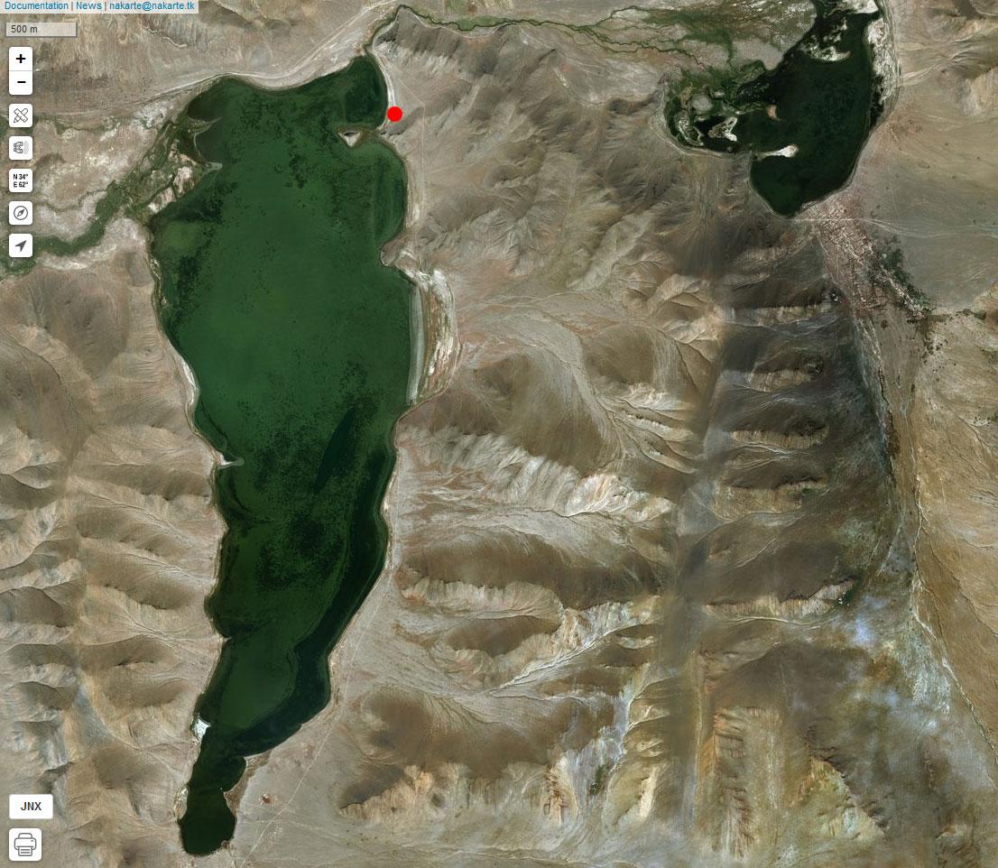 Спутниковый снимок Дунд-Нура