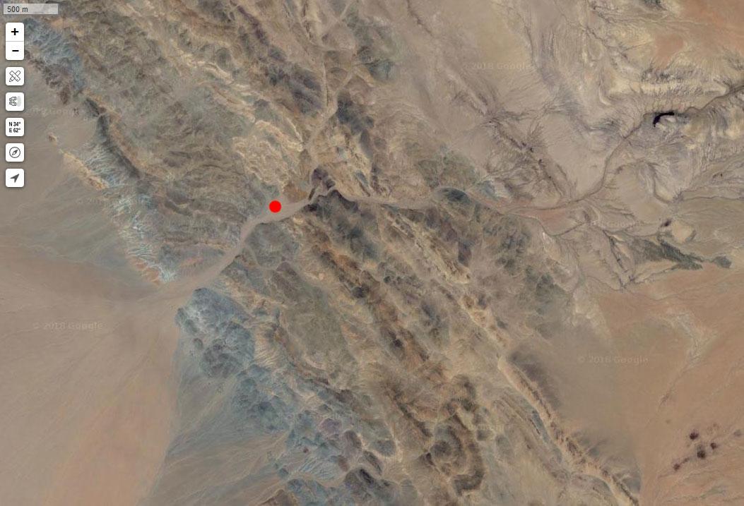 Спутниковый снимок гор Гашгуртайн-Хара-Удзур