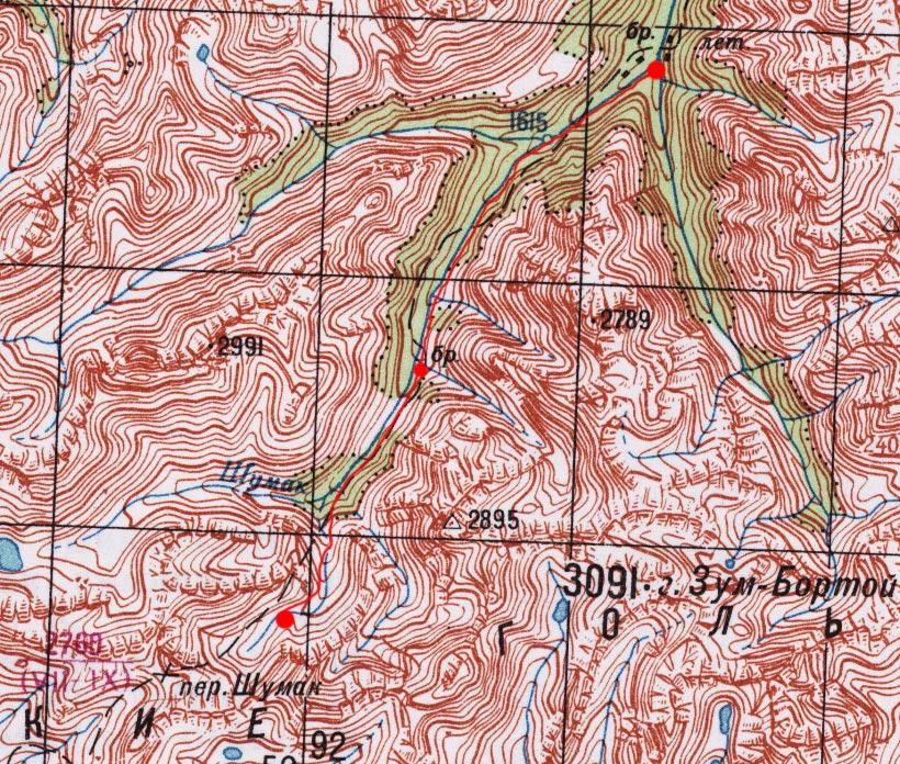 Карта пути 1 июля