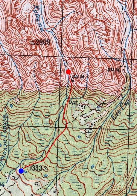Карта пути 24 июня