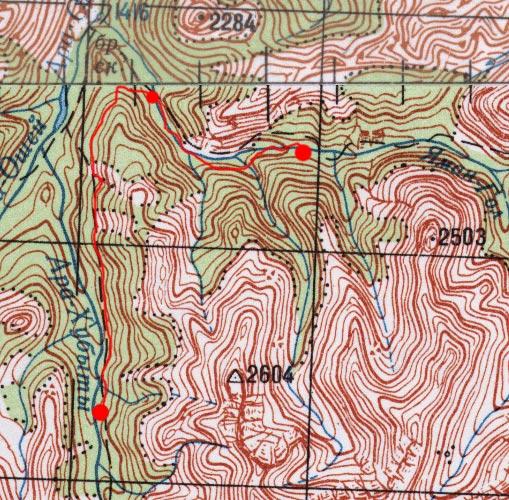 Карта пути 26 июня