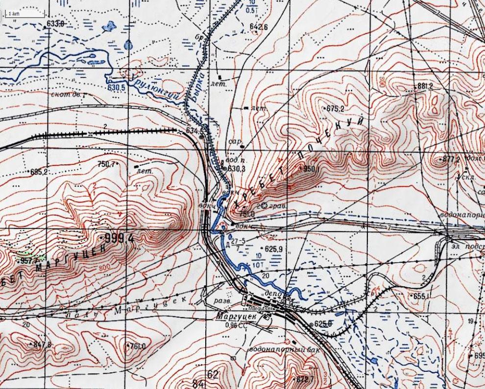 Карта окрестностей Маргцека