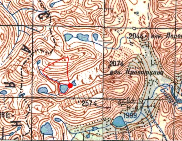 Карта маршрута 14 августа