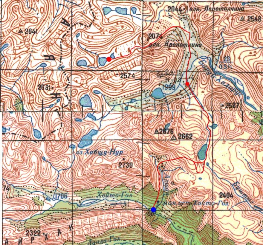 Карта маршрута 13 августа