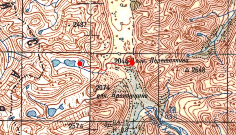 Карта маршрута 18 августа