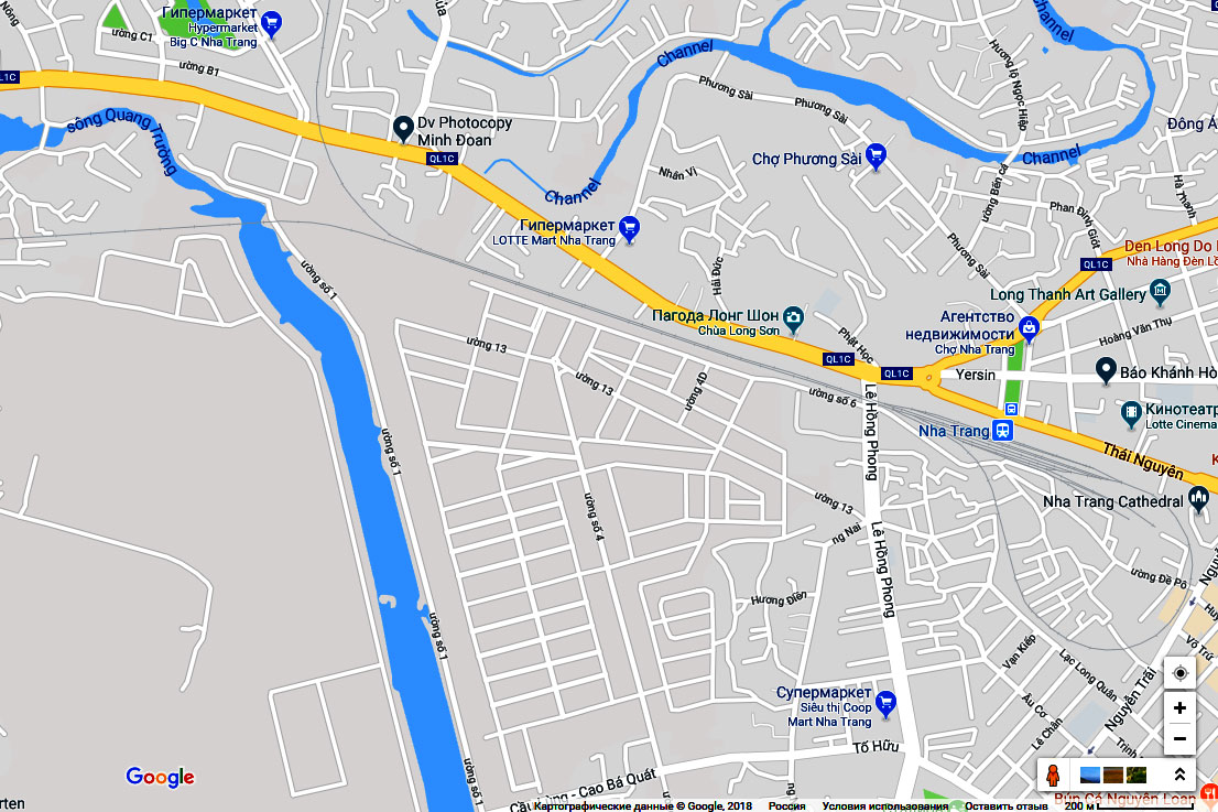 Схема станции Нячанг