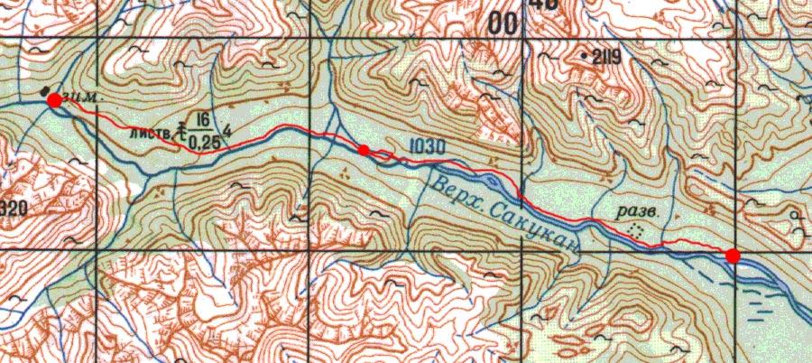 Карта пути 11 июля