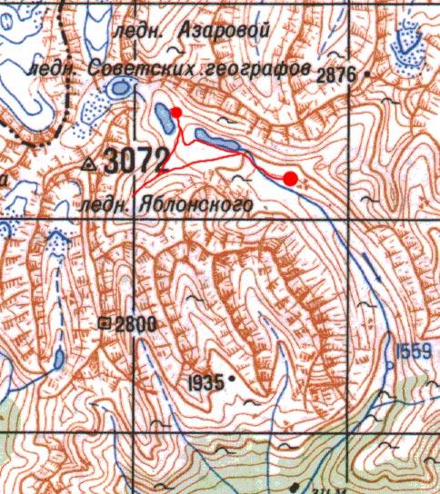 Карта пути 13 июля