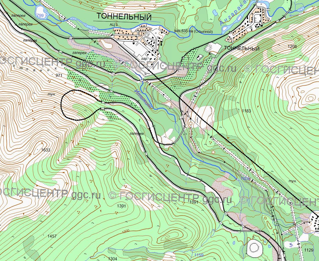 Карта временного обхода