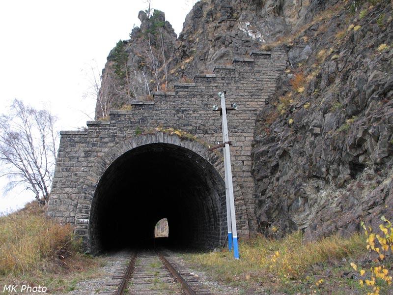 Западный портал тоннеля Безымянный