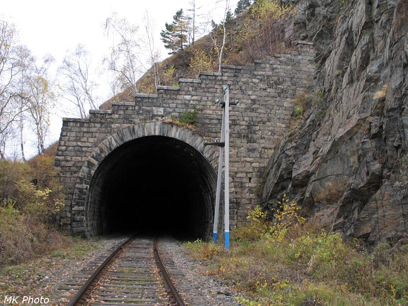 Западный портал тоннеля Шарыжалгай 1